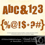 Good Life Rust Alphabet Pack-$1.00 (Ettes and Company by Fayette)