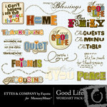 Good Life WordArt Pack-$2.99 (Fayette Designs)