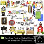 School House Embellishment Pack-$3.00 (Tara Reed Designs)