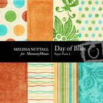 A Day of Bliss Paper Pack 2-$3.50 (Melissa Nuttall)