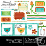 A Day of Bliss Embellishment Pack-$3.00 (Melissa Nuttall)