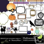 Halloween Embellishment Pack-$3.00 (Bisous By Suzanne Carillo)