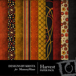 Harvest Paper Pack-$4.00 (Designs by Krista)