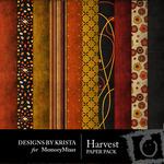 Harvest Paper Pack-$4.00 (Designs by Krista)
