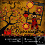 Harvest Embellishment Pack-$3.00 (Designs by Krista)