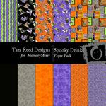 Spooky Drinks Paper Pack-$3.50 (Tara Reed Designs)