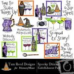 Spooky Drinks Embellishment Pack-$2.99 (Tara Reed Designs)