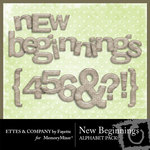 New Beginnings Alphabet Pack-$1.00 (Ettes and Company by Fayette)