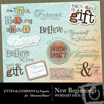 New Beginnings WordArt Pack-$1.50 (Fayette Designs)