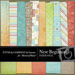 New Beginnings Paper Pack-$4.00 (Ettes and Company by Fayette)