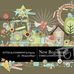 New Beginnings Embellishment Pack-$3.50 (Ettes and Company by Fayette)