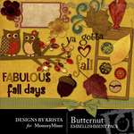Butternut Embellishment Pack-$3.00 (Designs by Krista)