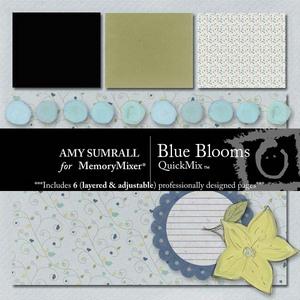 Blue blooms medium