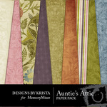 Aunties Attic Paper Pack-$2.80 (Designs by Krista)