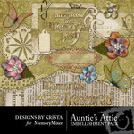 Aunties Attic Embellishment Pack-$3.00 (Designs by Krista)