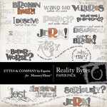 Reality Bytes WordArt Pack-$1.50 (Ettes and Company by Fayette)