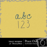 Peace Out Alphabet Pack-$1.00 (Traci Murphy)