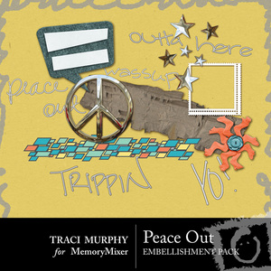 Tracimurphy peaceout embellishments medium