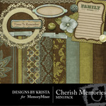 Cherish Memorie Mini Pack-$4.00 (Designs by Krista)