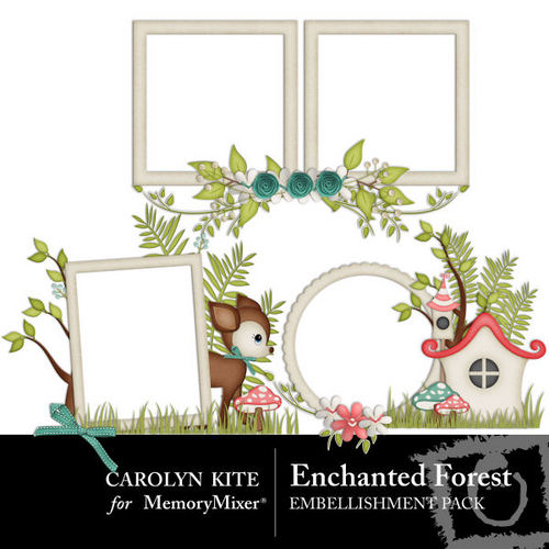 Enchanted forest frame cluster pack scrapbook page design enchanted forest frame cluster pack voltagebd Image collections