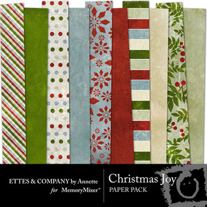 Christmasjoycollage paperpack medium