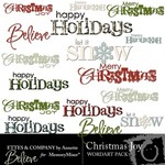 Christmas Joy WordArt Pack-$0.75 (Ettes and Company by Annette)