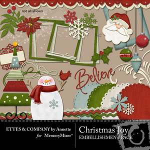 Christmasjoycollage embellishmentpack medium