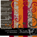 The Little Things November Mini Pack-$3.00 (Lasting Impressions)