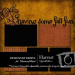 Harvest QuickMix-$3.99 (Designs by Krista)