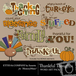 Thankful Thoughts Embellishment Pack-$1.99 (Ettes and Company by Annette)