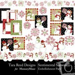 Sentimental Snowmen Embellishment Pack-$2.99 (Tara Reed Designs)