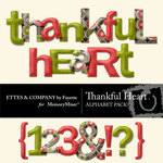 Thankful Heart Alphabet Pack-$1.99 (Ettes and Company by Fayette)