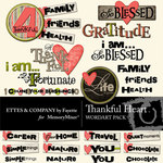 Thankful Heart WordArt Pack-$0.99 (Fayette Designs)