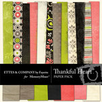 Thankful Heart Paper Pack-$3.99 (Ettes and Company by Fayette)