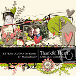 Thankful Heart Embellishment Pack-$3.49 (Ettes and Company by Fayette)