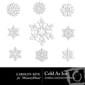 Cold as ice snowflake emb medium