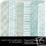 Season of Change Winter Worn Paper Embellishments-$1.49 (Karen Lewis)