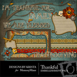 Thankful Embellishment Pack-$3.00 (Designs by Krista)