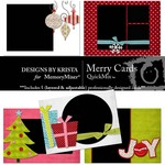 Merry Card Pack QuickMix-$1.50 (Designs by Krista)