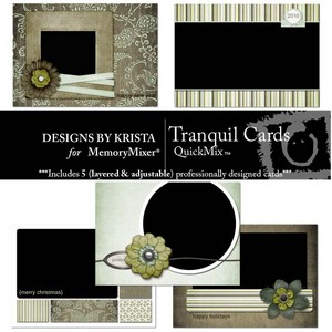 Tranquil cards medium