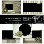 Tranquil Card Pack QuickMix-$1.80 (Designs by Krista)