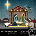 Christmas Carols Nativity Kit-$2.99 (Fayette Designs)