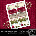 Christmas Carols Gift Tags Pack-$0.99 (Ettes and Company by Fayette)