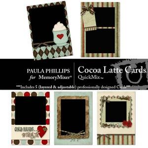 Cocoa latte cards medium