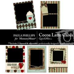 Cocoa latte cards medium