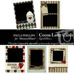 Cocoa latte cards small