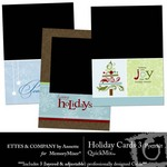 Holiday Portrait Cards QuickMix 3-$1.25 (Ettes and Company by Annette)