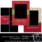 Holiday Portrait Cards QuickMix 1-$1.25 (Ettes and Company by Annette)