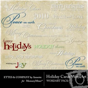 Holiday cards wordart medium