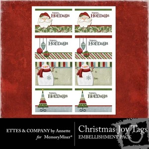 Christmas joy tags medium